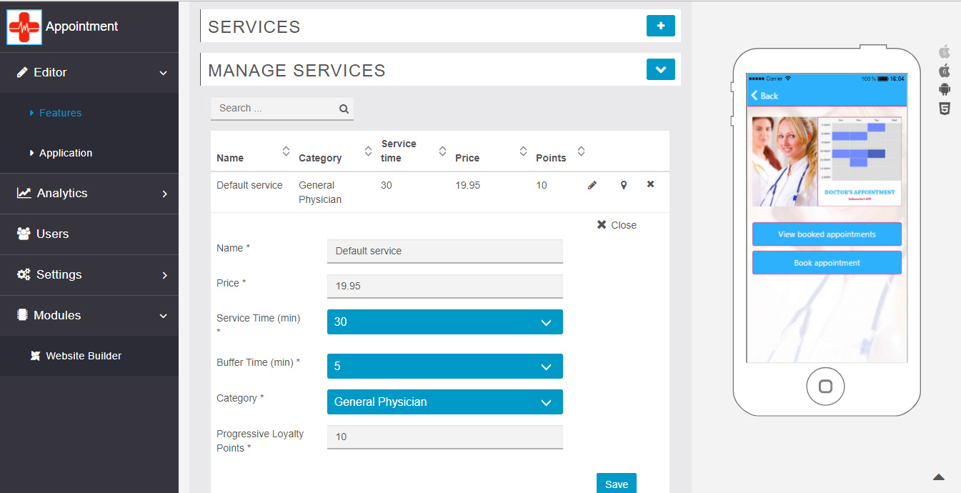 Manage Services